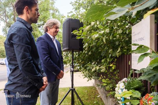 Zenthe Ferenc emléktáblájának avatása