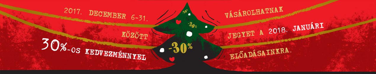 Karácsonyi kedvezmeny banner
