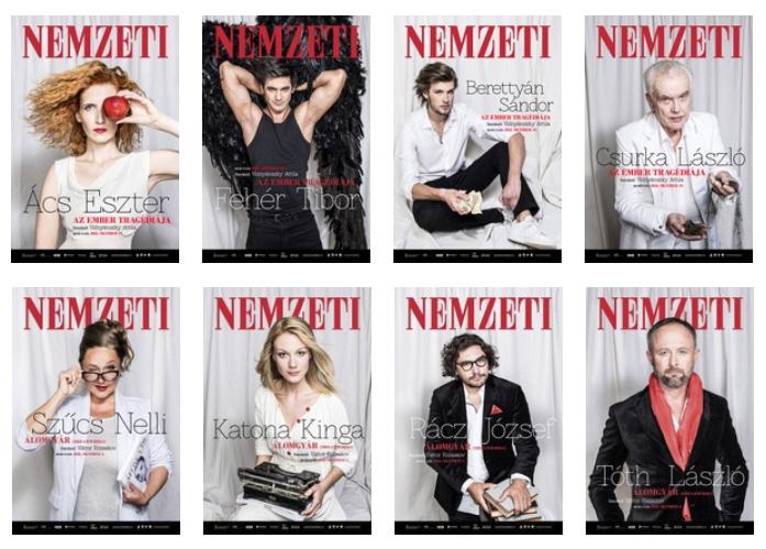A színészeké a főszerep az évad plakátjain