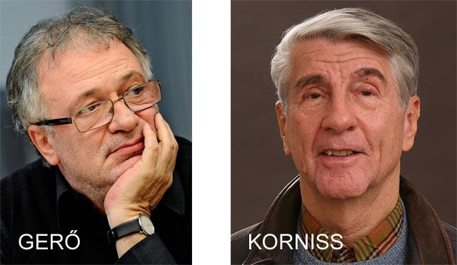 Gerő András és Korniss Péter a Nemzetiről